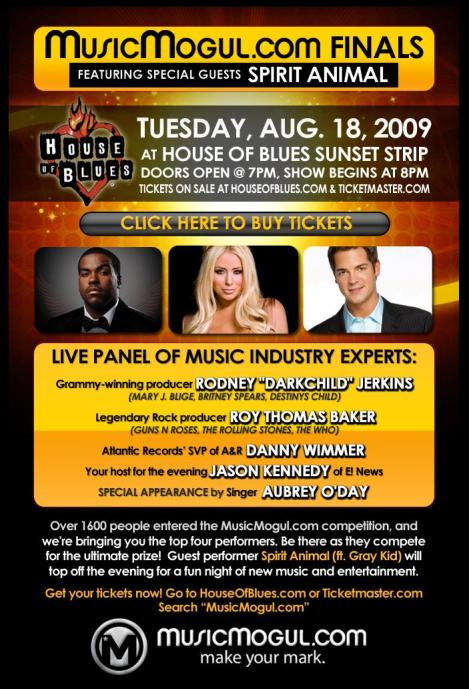 Music Mogul Finals at House of Blues August 18